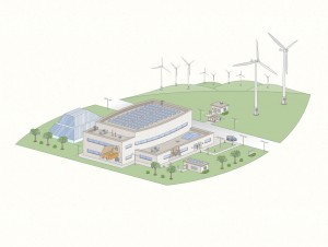 Illustration for environmental building