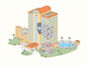 Illustration for hotel