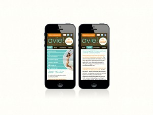 AVIE Website (Mobile)